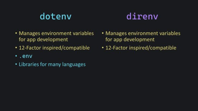 Direnv and Dotenv